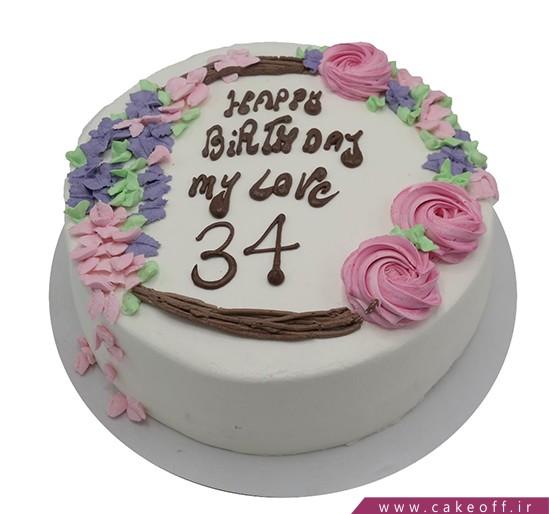 کیک تولد زیبا - کیک احساس باران | کیک آف