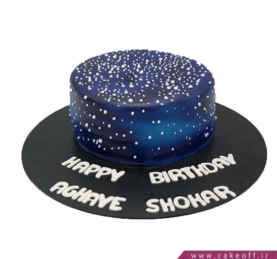 کیک تولد خاص - کیک رویای کهکشان | کیک آف