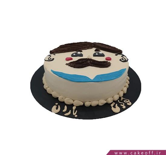 خرید آنلاین کیک در اصفهان - کیک سبیل قشنگ | کیک آف