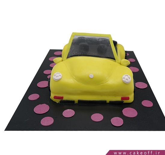 کیک ماشین فولکس زرد | کیک آف