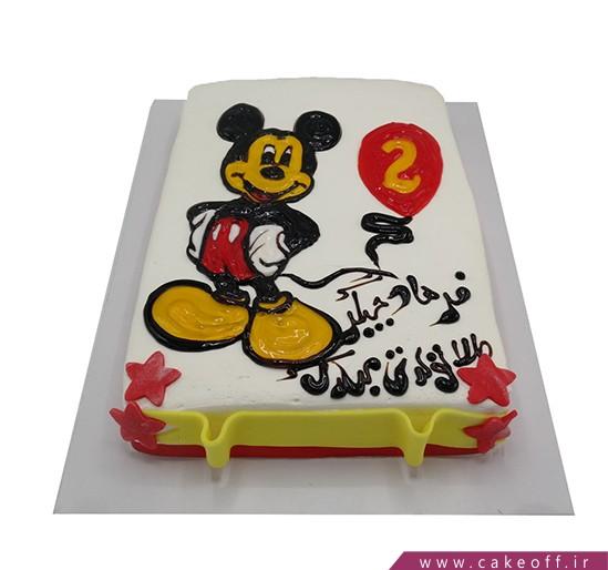 کیک تولد بچگانه - کیک میکی بازیگوش | کیک آف