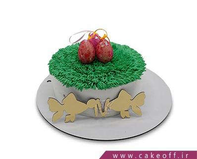 سفارش کیک - کیک عید و ماهی تنگ بلور | کیک آف