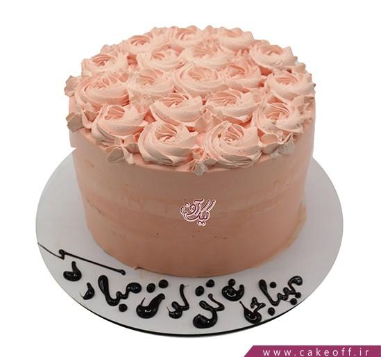 سفارش کیک ساده - کیک شکوفه های یاس | کیک آف