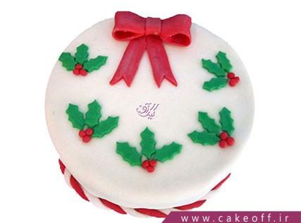 کیک کریسمس پاپیونی | کیک آف