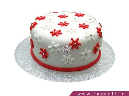 کیک کریسمس برف میبارد | کیک آف