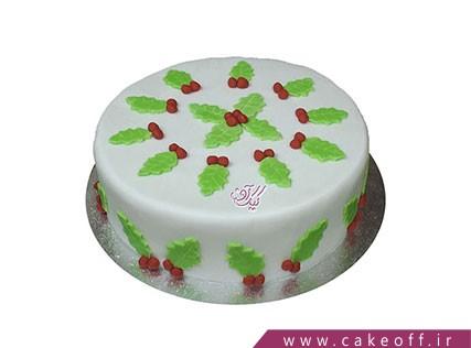 کیک جشن کریسمس - کیک برگ های زمستانی | کیک آف