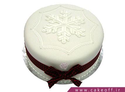 کیک جشن کریسمس - کیک تک برف | کیک آف