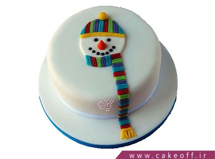 کیک جشن کریسمس - کیک آدم برفی رنگی رنگی | کیک آف