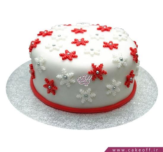 کیک کریسمس برف میبارد