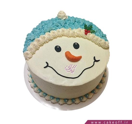 کیک آدم برفی و لبخند زیبا
