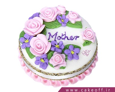 کیک تولد مادر - کیک مادر در باغ گل | کیک آف