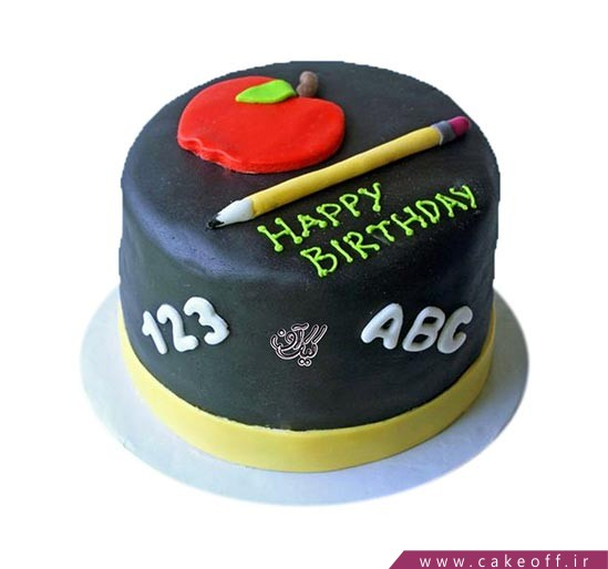 کیک روز معلم - کیک فوندانتی معلم عزیز   کیک آف