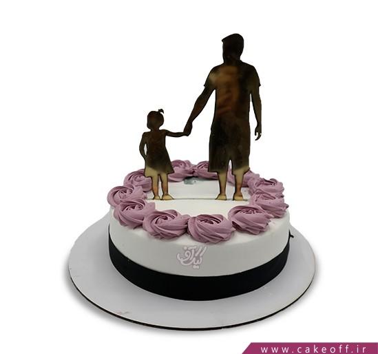 کیک روز مرد - کیک روز پدر عاشق خانواده | کیک آف