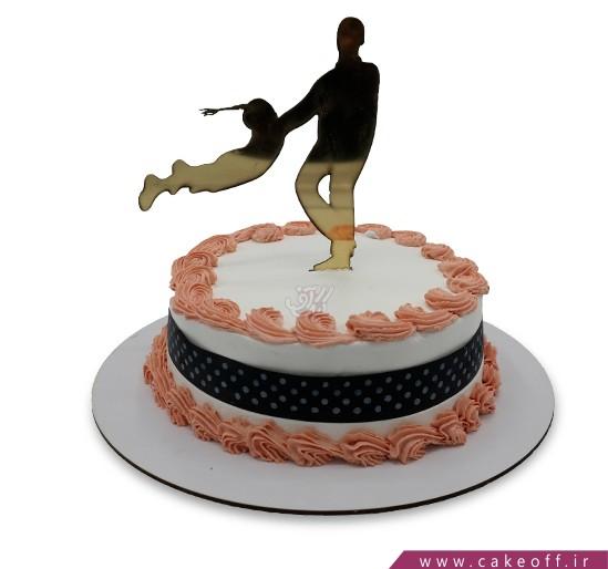 کیک روز پدر - کیک روزت مبارک بابا   کیک آف