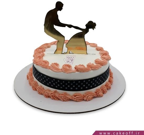 کیک روز پدر بدون دخترم هرگز