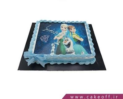 سفارش چاپ عکس روی کیک - کیک السا و دوستان | کیک آف
