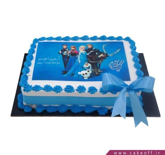 انواع کیک تولد - کیک السا در رویا | کیک آف