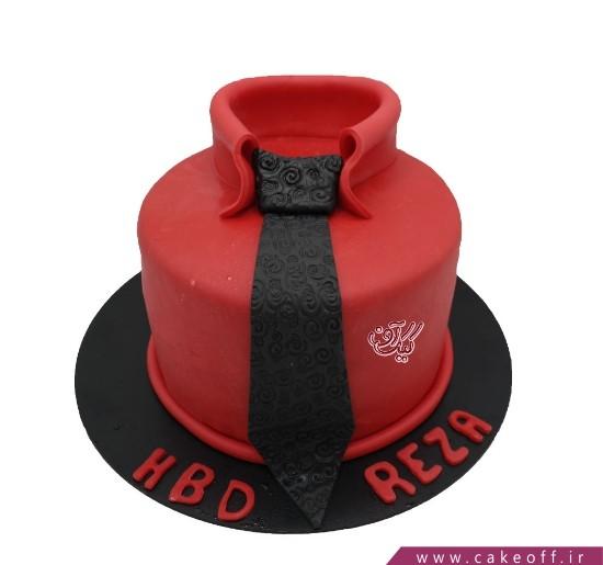 کیک فوندانتی - کیک پیراهن قرمز | کیک آف