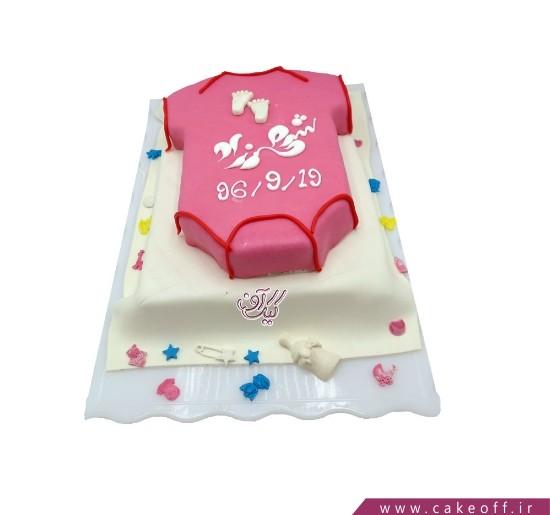 انواع کیک تولد - کیک تولد نوزاد شهرزاد   کیک آف