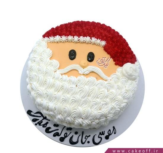 کیک جشن کریسمس - کیک منتظر بابانوئل بمان   کیک آف