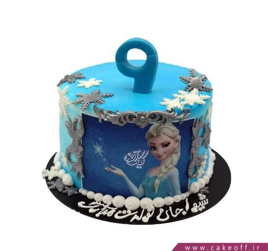 کیک تولد دخترانه السای دلربا | کیک آف