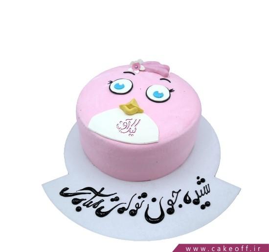 کیک تولد بچه گانه - کیک تولد انگری بردز ۸ | کیک آف