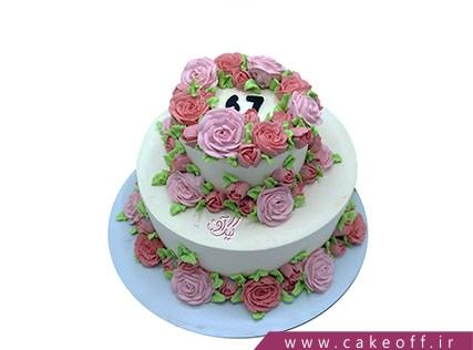 کیک تولد زیبا - کیک بی بی و باغچه گل هایش | کیک آف