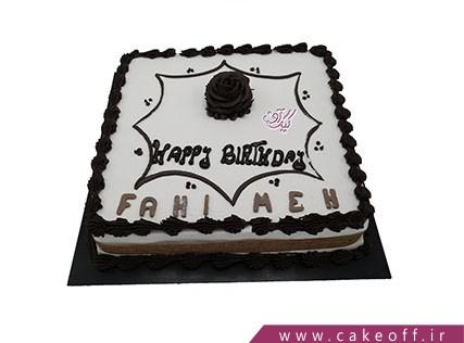 کیک تولدت مبارک چهار ضلعی | کیک آف