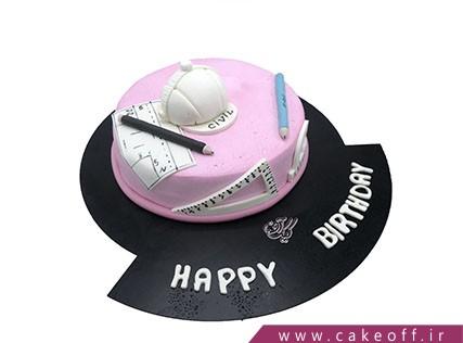 کیک تولد زیبا - کیک مهندسی خانم معمار | کیک آف