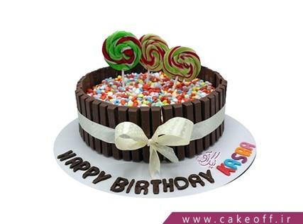 کیک تولد زیبا - کیک تولد آب نبات اسمارتیزی | کیک آف