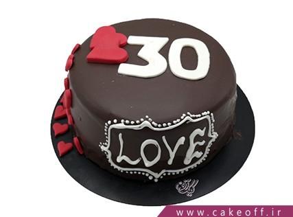 کیک تولد زیبا - کیک شکلاتی سی سالگی زیبا | کیک آف