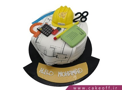 کیک تولد زیبا - کیک مهندس باشی | کیک آف