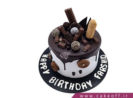 کیک تولد زیبا - کیک شکلاتی گلشیفته | کیک آف