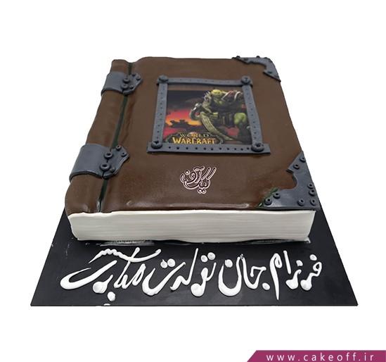 کیک تولد - کیک کتاب وارکرافت | کیک آف
