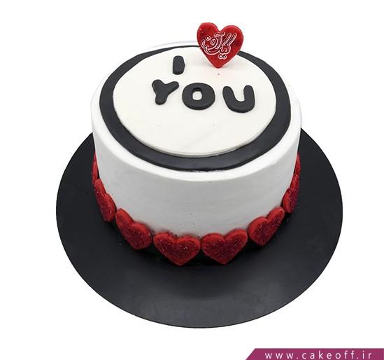 سفارش کیک تولد عاشقانه - کیک مهرِ یار | کیک آف