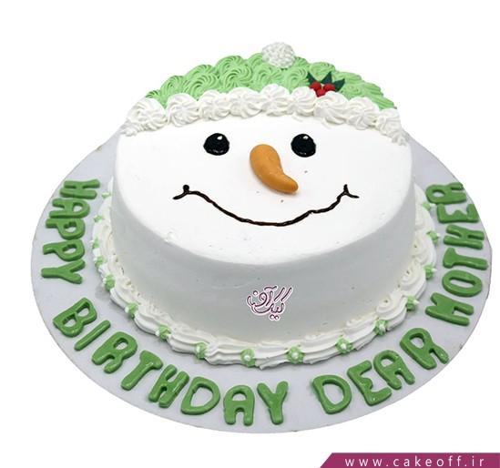 کیک جشن کریسمس - کیک آدم برفی و لبخند زیبا | کیک آف