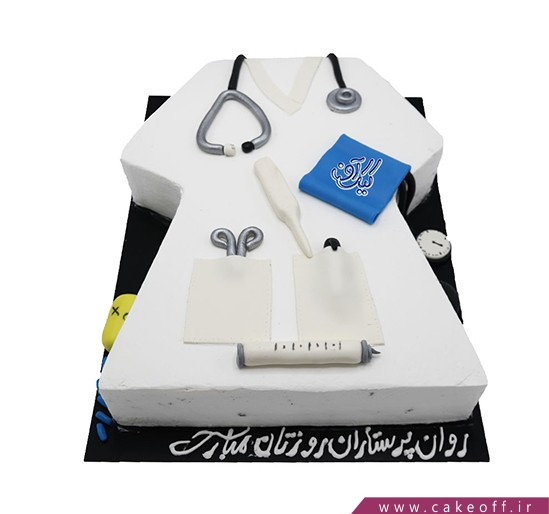کیک روز پرستار - کیک پرستار نایت نرس | کیک آف