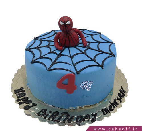 سفارش کیک تولد پسرانه - کیک مرد عنکبوتی ۶ | کیک آف