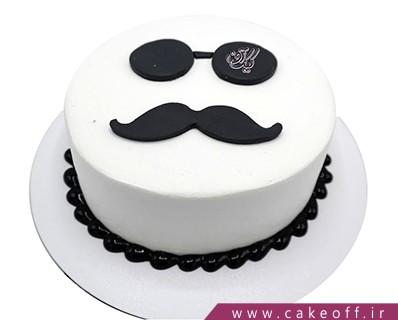 کیک روز مرد آقای عینکی | کیک آف