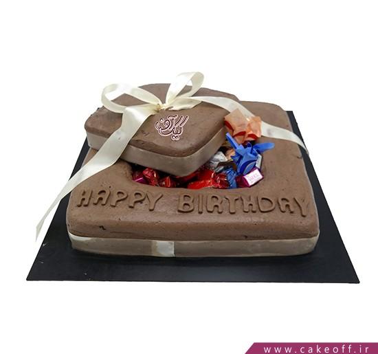 کیک شکلاتی جعبه خوشمزه