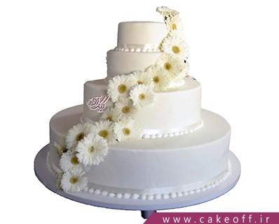 کیک عقد وعروسی ژربرا | کیک آف