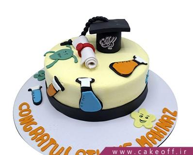 انواع کیک - کیک فارغ التحصیلی شیمی دان | کیک آف