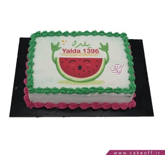 کیک خامه ای - کیک شب یلدای شاد | کیک آف