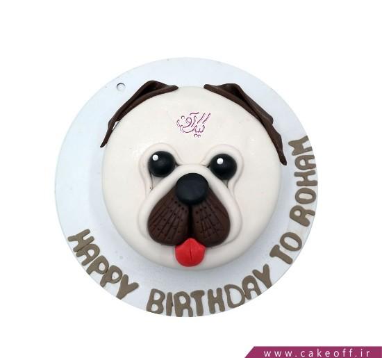 کیک فوندانتی سگ بد اخلاق