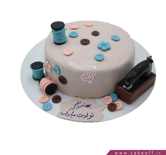 کیک فوندانتی مادر خیاط من | کیک آف