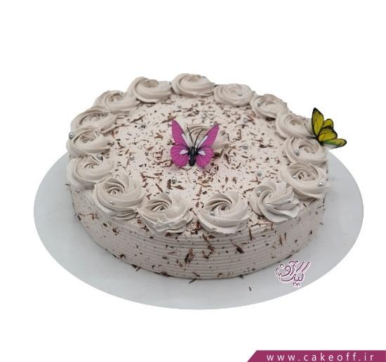 کیک ساده پروانه های بهشتی