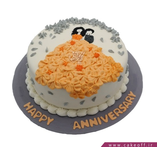 کیک سالگرد ازدواج - کیک آقا و خانم اسمیت | کیک آف