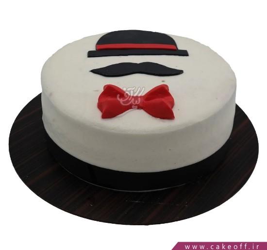 کیک تولد مردانه - کیک پوآرو جنتلمن | کیک آف