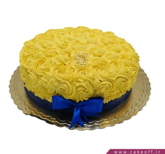 فروشگاه انلاین کیک - کیک رزهای زعفرانی   کیک آف