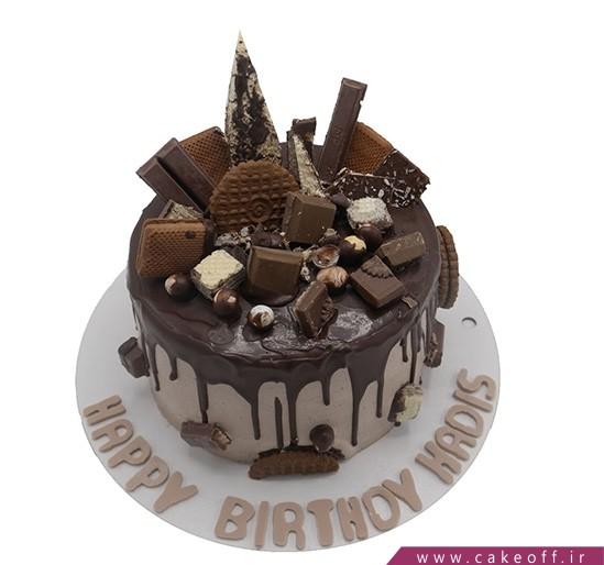 خرید کیک اینترنتی - کیک تولد قصر شکلاتی | کیک آف
